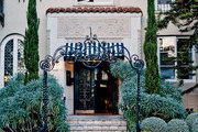 Terracotta roofing and wrought iron fountain at Palihouse Santa Monica