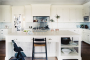 White countertops and cabinetry in a kitchen