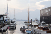 Boats and sailing vessels in the marina in Newport, Rhode Island