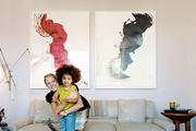 Laura Day and daughter Olivia in their Upper East Side home