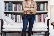 Antiques dealer Kay O'Toole in her Houston home