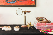 A detail of Bohemian and Moroccan objects.