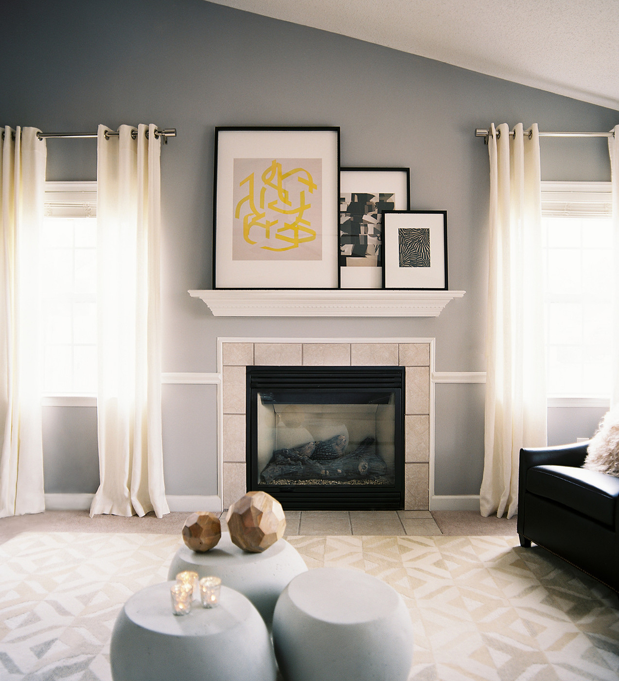 Beadboard Accent Wall On A Vaulted Ceiling Behind A Fireplace: Fresh Start: Breathing New Life