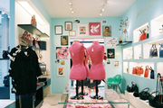 Colorful displays of kate spade new york merchandise