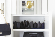 Built-in closet shelving for bags of all sizes