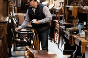 1stdibs founder Michael Bruno browsing at Copenhagen's Green Square Antiques