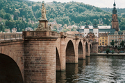 The Old Bridge, overlooking Heidelberg's Neckar River