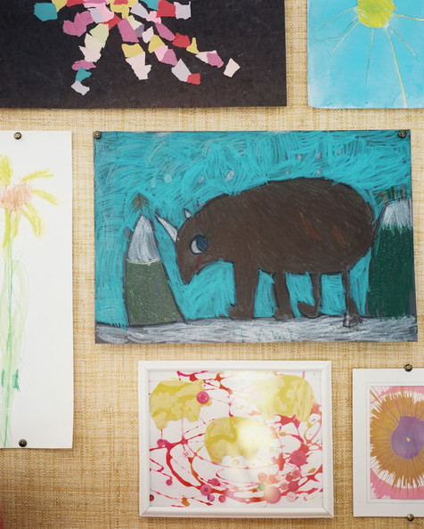 August 2012 Issue - A gallery wall of art and children's creations