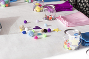 Craft supplies at a kids' birthday party