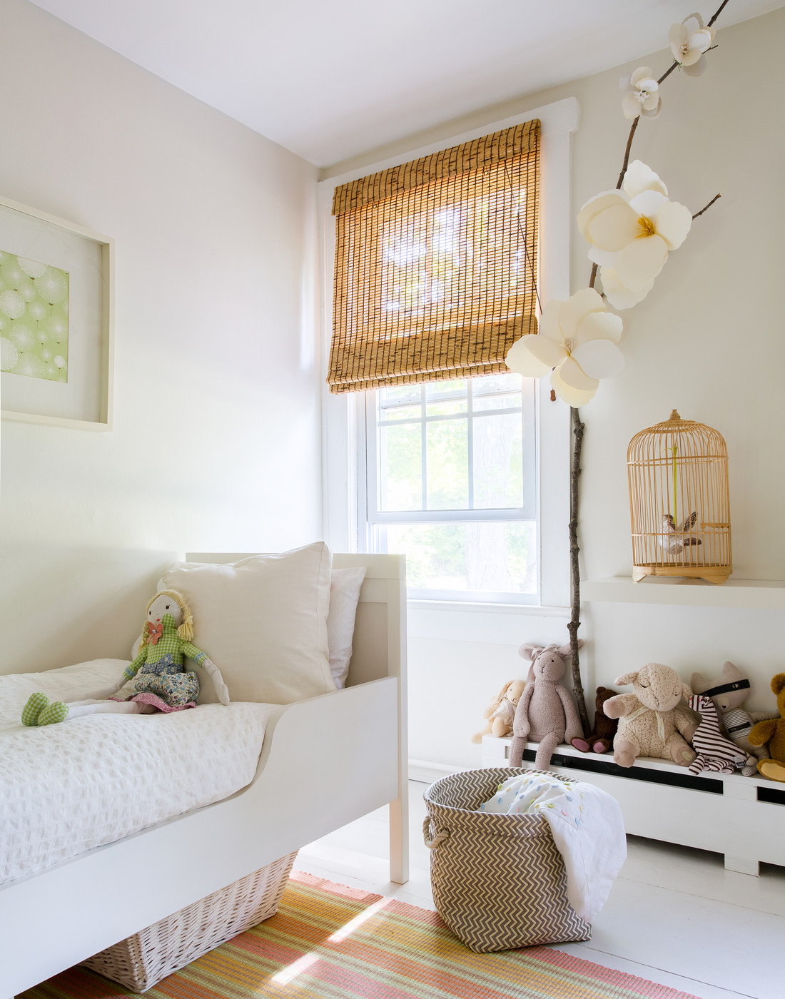 Creamy neutral decor in a child's nursery