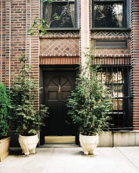 Brick entry photos design ideas remodel and decor lonny Plants next to front door
