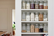 Ditch the plastic and take culinary cues from Martinez, opting for a long-life, eco-friendly approach to storing spices. Clearly labeled glass jars ensure all of your go-to spices are conveniently within reach.