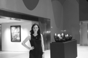 Carina Villinger in the Christie's New York lobby