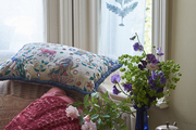 As befits a garden designer, botanical motifs play a significant part in this homeowner's decor.