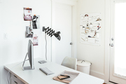 Here is a blogger's home office.