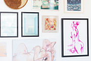 An eclectic gallery wall.