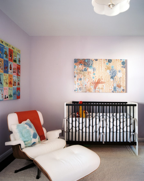 Kids' Room Modern - A nursery filled with art and iconic furniture