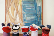 A gathering of hand puppets