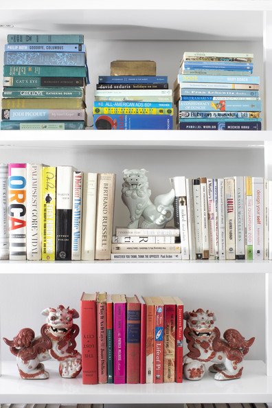 Foo Dog collection on bookshelf