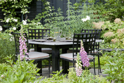 A table for four in a garden