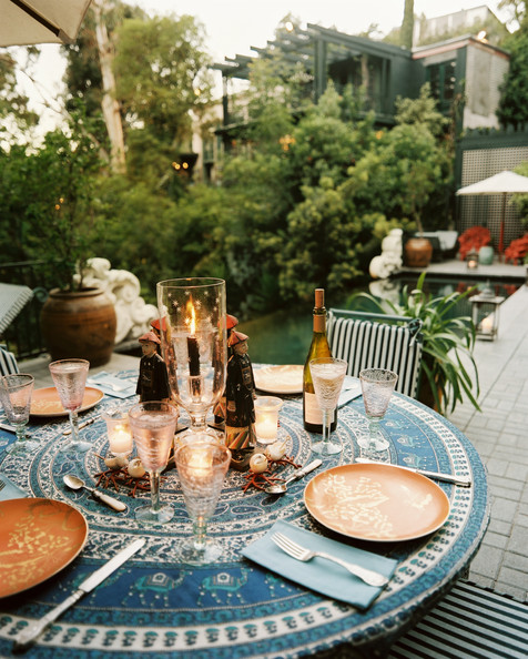 Patio photos 152 of 601 lonny Outdoor dinner table setting