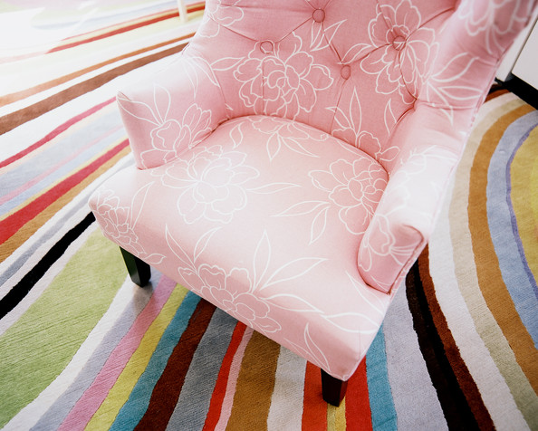 Pink Upholstered Chair Photos Design Ideas Remodel And
