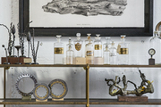 A vignette of vintage-style objects at American Street Showroom