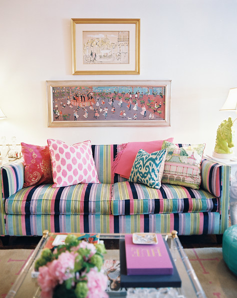 Striped Sofa Photos, Design, Ideas, Remodel, and Decor - Lonny