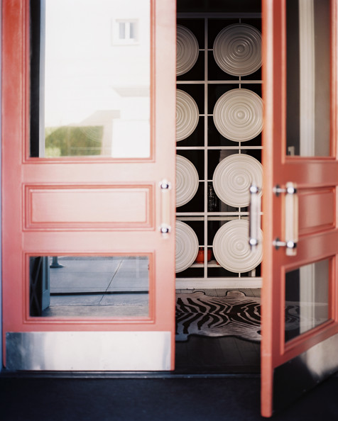 Pink Front Door Photos (1 of 1). Hollywood Regency Doors & Pink Front Door Photos Design Ideas Remodel and Decor - Lonny
