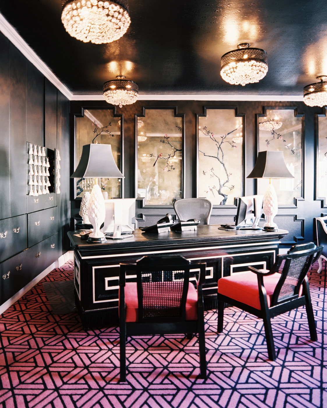 Black And White Desk Photos, Design, Ideas, Remodel, And