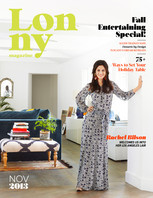 The November issue of Lonny is a sourcebook for the modern entertaining maven, from an event designer's party tips to a decadent desserts primer.