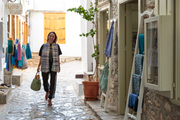 Mirabelle Marden wandering the streets of Hydra