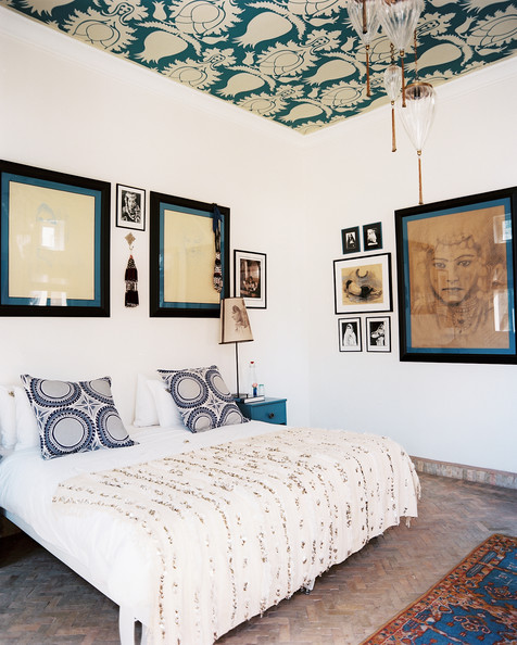 Wallpaper ceiling photos design ideas remodel and - Wallpaper on ceiling ideas ...