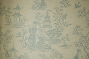 This is a close-up view of Asian-influenced wallpaper.