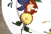 A flowered serving dish