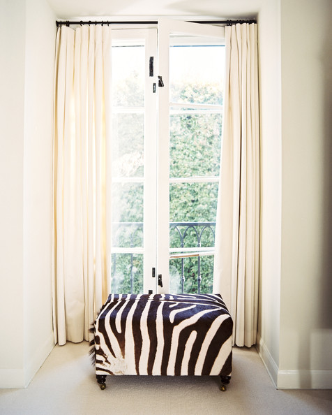 Zebra Print Ottoman Photos, Design, Ideas, Remodel, and Decor - Lonny