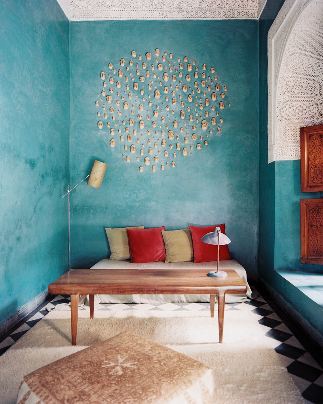 Living room color photos 6 of 18 for Objet deco bleu turquoise