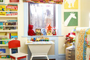 Bright colors and animal prints in a kid's bedroom
