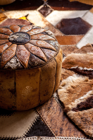 Leather Pouf Photos (2 of 4) []