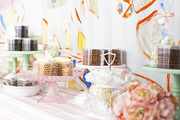 A candy and pastry station by Miette