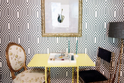 An eclectic dining space