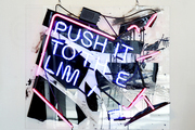 Push by Patrick Martinez on display at the Guy Hepner art gallery in West Hollywood