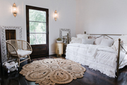 Moroccan-style linen daybed
