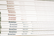 A stack of domino magazines