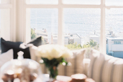 Views of the Malibu beachfront from a breakfast nook