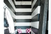 A black and white striped entryway.
