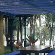 Blue Modern Tropical Outdoor Dining
