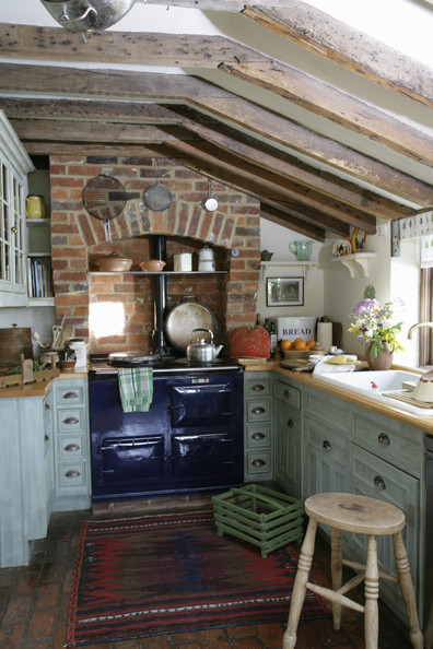 Brick walls photos design ideas remodel and decor lonny for English cottage kitchen