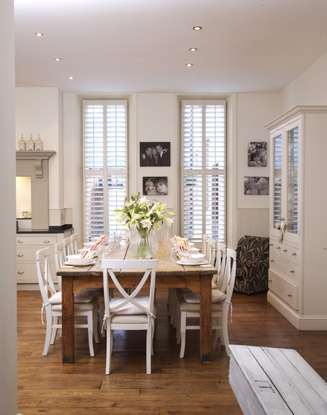 Genial White Country Dining Room