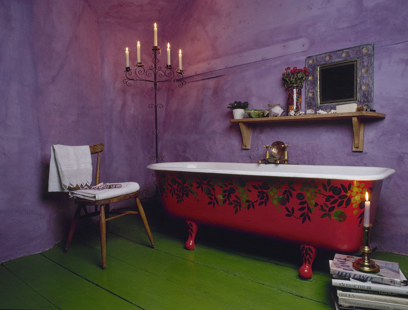 charming purple green bathroom ideas | Purple and Green Is an Awesome Color Combo... - Bathroom ...